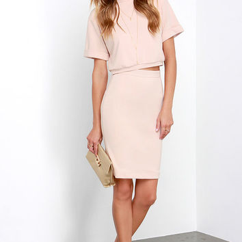 Dare to Dream Blush Two-Piece Dress
