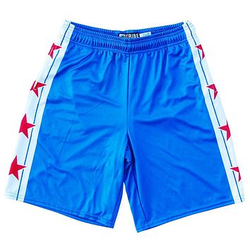 Chicago Flag Stars Lacrosse Shorts