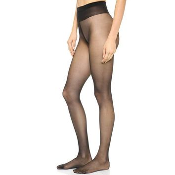 Wolford Individual 10 Black Tights