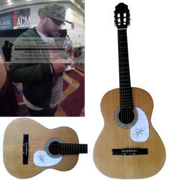 Mitchell Tenpenny Autographed Full Size 39 Inch Country Music Acoustic Guitar, Proof Photo