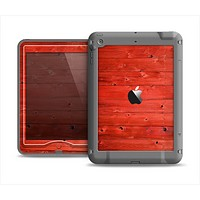 The Red Highlighted Wooden Planks Apple iPad Mini LifeProof Nuud Case Skin Set