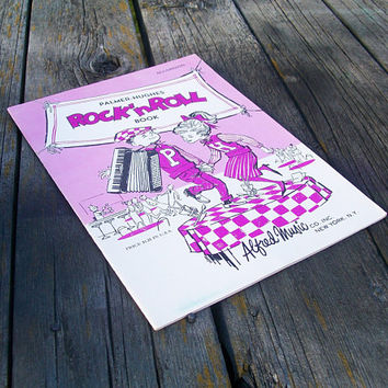 Vintage Sheet Music Palmer Hughes Rock 'N Roll Book for the Accordion 1960