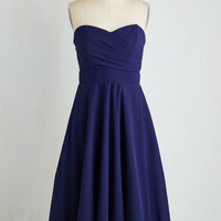 Long Strapless Fit & Flare Nocturne