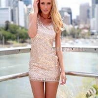Sequin Rose Gold Dress