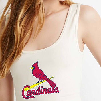 st louis cardinal  for Crop Tank Girls S, M, L, XL, XXL **