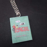 Fangirl book necklace / keychain
