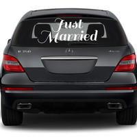 Just Married Decal, Just Married car decal, Wedding Decal, Wedding car decal, Wedding decor, Wedding accessories