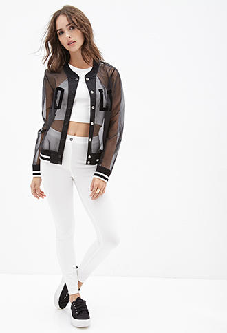 a7d2b6d6ea9595 FOREVER 21 Barbie Doll Varsity Jacket from Forever 21