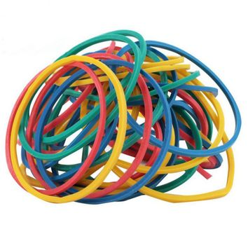 Colorful 100 Pieces/Pack Nature Rubber Bands 40 mm School Office Home Industrial Rubber Band Fashion Stationery Package Holders
