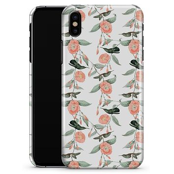 The Coral Flower and Hummingbird All Over Print - iPhone X Clipit Case