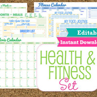 EDITABLE and INSTANT DOWNLOAD Fitness and by HappyOrganizedLife