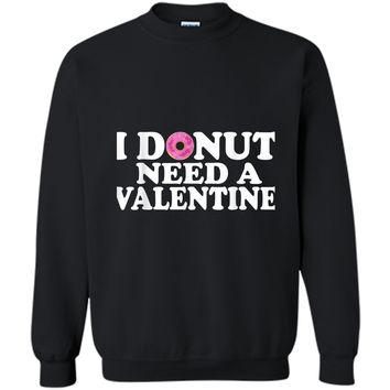 Funny Valentine's Day Cute Donut Lovers  Printed Crewneck Pullover Sweatshirt