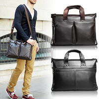 Men's Leather Essential Laptop Shoulder Bag