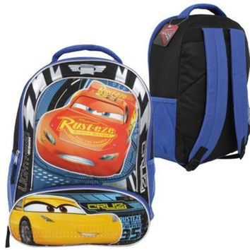 "16.5"" Disney Pixar Cars Rust-Eze with Pencil Pouch - Black - CASE OF 12"
