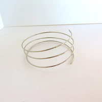 Silver tribal armlet, hammered upper arm coil, above the elbow bracelet, gift under 30