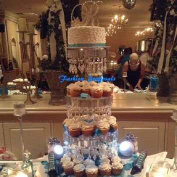 Sale Cupcake Tower 4 tiers. Cupcake stand. Crystal cupcake stand. Wedding cupcake stand. Crystal cake stand. Cake stand tower