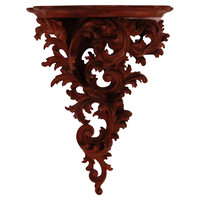 Carved Italian Mahogany Wall Shelf