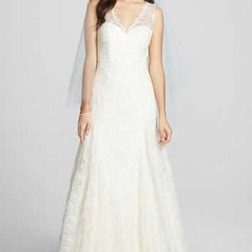 Women's Jenny Yoo 'Genevieve' Marseille Lace Trumpet Dress (In Stores Only)