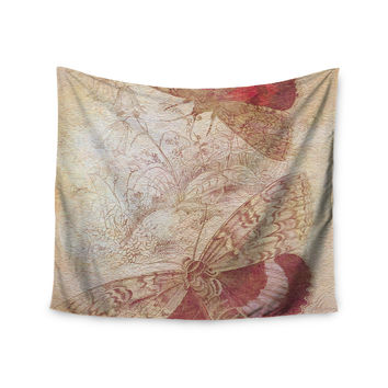 "Suzanne Carter ""Vintage Garden"" Butterfly Moth Wall Tapestry"