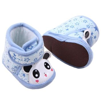 Baby Shoes Girl Anti-slip Soft Sole per Boots 0-12 Months U899