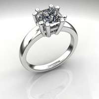 Forever Brilliant Moissanite Princess Cut Solitaire Engagement Ring 2 CTW