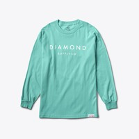 Stone Cut Longsleeve Tee in Diamond Blue