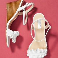 Elysess Ruffled Wedge Sandals