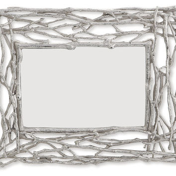 Michael Aram, Twig Photo Frame, 4x6, Silver, Frames