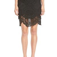 Storee Scalloped Lace Pencil Skirt | Nordstrom