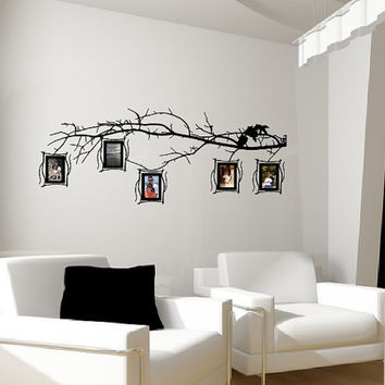 Tree Branch Photo Frames Decal Set - Family Tree Decal - Photo Frame Wall Decals - Tree Branch Wall Decal 22549