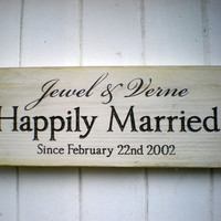 Custom Name Commemorative Wedding Sign