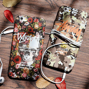 Cute Vintage Flower Printed Case for iPhone