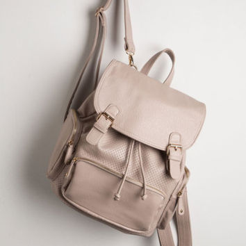 ModCloth Travel, Scholastic Visualize Victory Backpack in Taupe