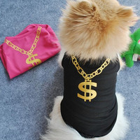 Pet Dog Cat Cute T-Shirt Clothes Vest Dress Coat Puggy Costumes Apparel = 1740594884