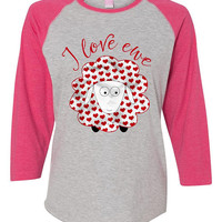Womens Valentine's Day Shirt, Valentine Outfit for Baby Girls, I Love Ewe Sheep Tshirt, Kids Valentine Shirt, Valentine Clothes for Kids Tee