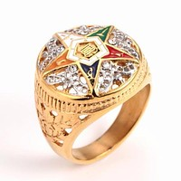 Order of the Eastern Star OES Masonic Golden Ring