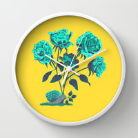 Snails N' Roses Wall Clock by Amelia Senville