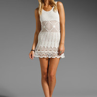 UNIF Boardwalk Crochet Mini Dress in White from REVOLVEclothing.com