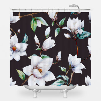 Vintage Magnolia Shower Curtain