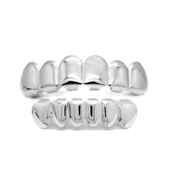 Silver Grillz Top and Bottom