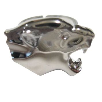 Silver Toned Puma Wild Cat Adjustable Size Fashion Ring