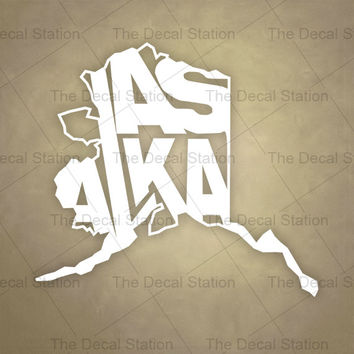 Alaska Vinyl Decal Sticker for Car Truck Auto. Word Art . US State Pride.