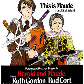 Harold and Maude Movie Art Poster 11x17