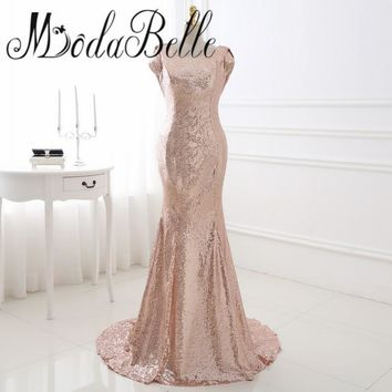 Western Sequin Champagne Gold  Bridemaids Dresses Cheap Special Occasion Dresses Beach Wedding Guest Vestido Festa Casamento
