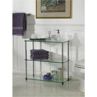 Convenience Concepts Classic Glass Shelving Unit