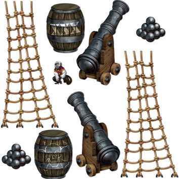 """pirate insta-theme ship props - 9.5"""" to 4' 5"""" Case of 12"""