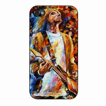Intage Classic Rock N Roll Collection Grunge Icon Nirana Kurt Cobain Painting iPhone 4/4s Case