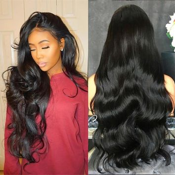 70CM Long Curly Wig Black Natural Party Wig Female Long Wavy Hair Synthetic Wig 2M81114