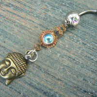 aurora buddah belly ring  karma  in belly dancer indie gypsy hippie morrocan boho and hipster style