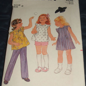 Butterick Sewing Pattern 3689 Fast and Easy Girls Dress Top Shorts Pants Children DIY Kid Clothes Uncut Size 6